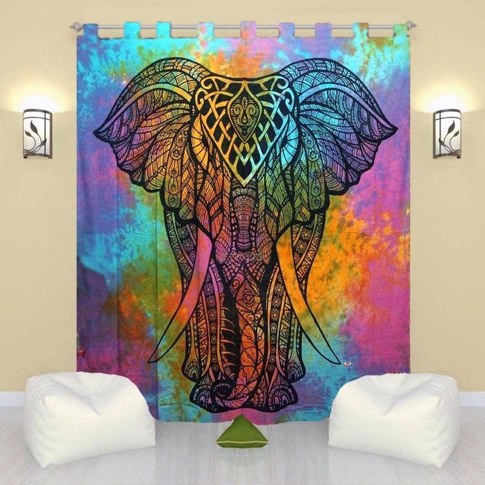 Cotton Hippie Tapestry Door Curtain