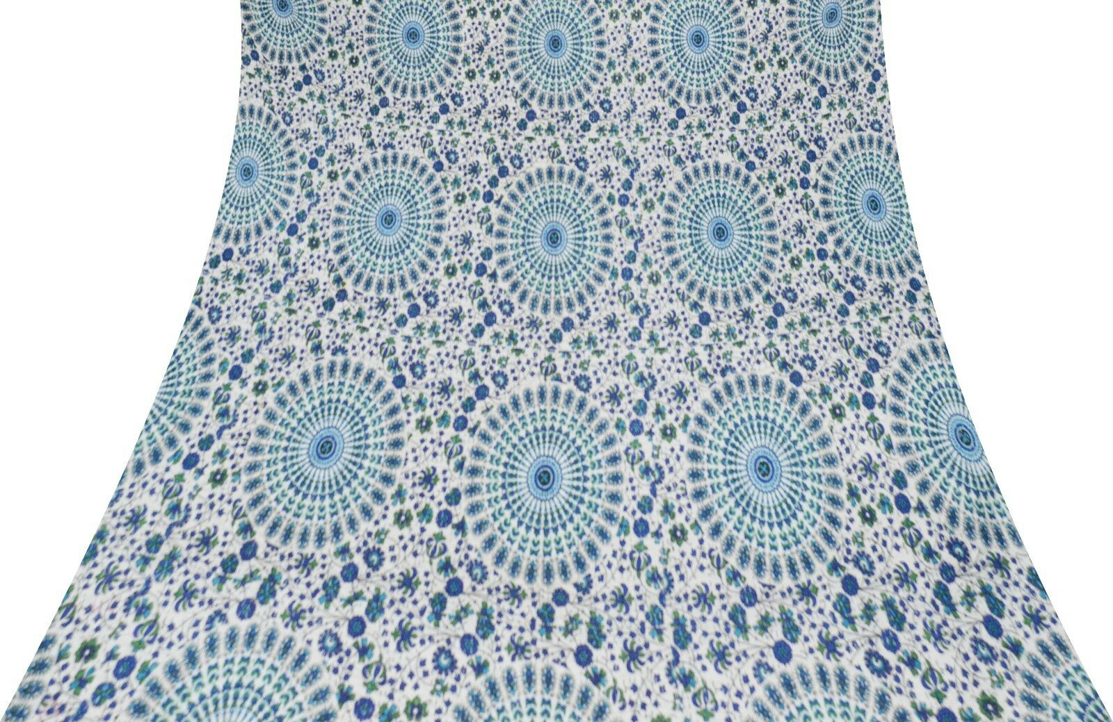 Peacock Mandala Tapestry Kantha Quilt Ombre Bedspread Queen Size Bedding Blanket